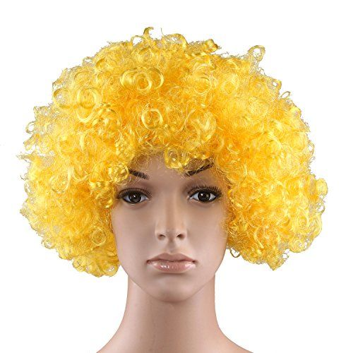 HÖTER Curly afro wig,costume wig,clown wig,assorted colour:   Item Weight:150 gbr /Ideal to complete your costumes for theme parties or carnivals.br /Warning: Not suitable for children under 3 years. For use under adult supervisionbr /Create your desired look quickly and easily with these great-value 60's Style Afro Wigs br /The ideal accessory for a huge number of fancy-dress themes and outfits.br /Perfect for that Hippie or 1960s Costume! Really FUN!!Very glamorous!