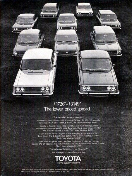 Качественная реклама автомобилей 70-х годов (25 фото)