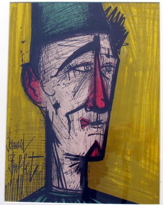 Bernard Buffet JoJo The clown Original Lithograph