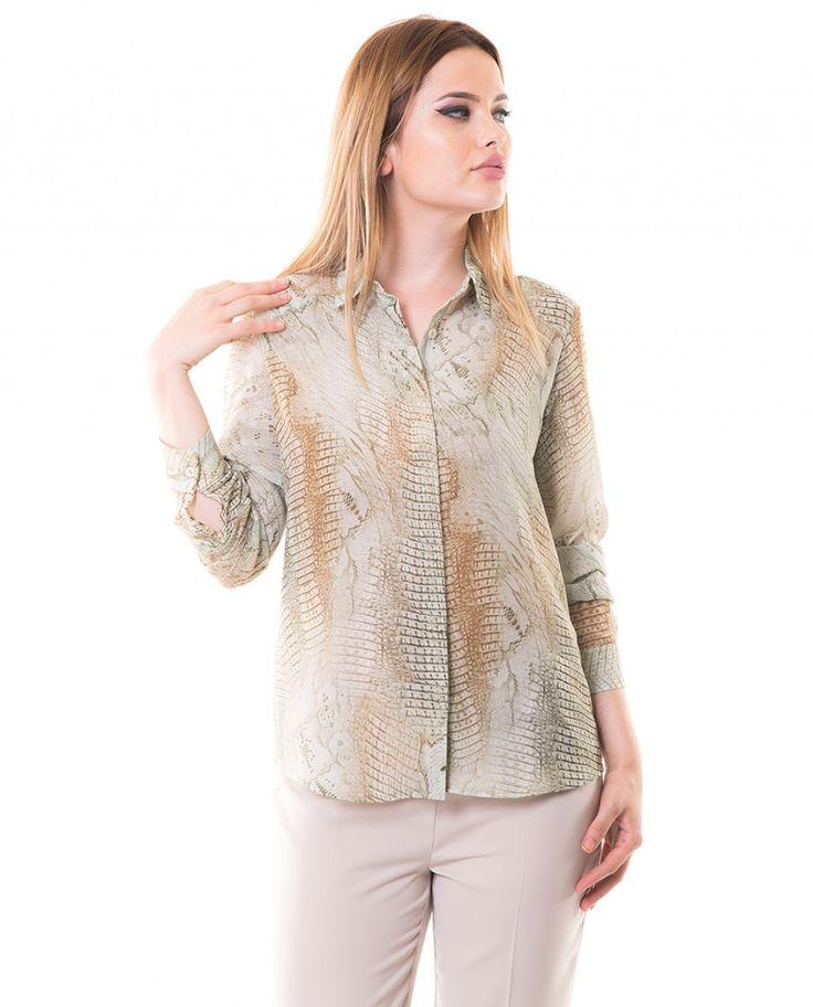 Karaca Bayan Casual Gömlek - Bej #womensfashion  #shirt #gomlek #karaca #ciftgeyikkaraca www.karaca.com.tr