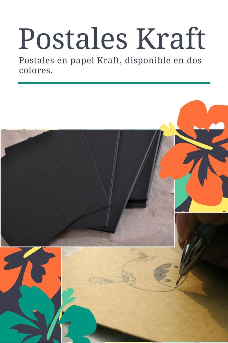 Postales en papel Kraft, tamaño: 14.8*10 cm, ideales para jugar con los marcadores metalizados. Vienen 5 unidades en el paquete.
