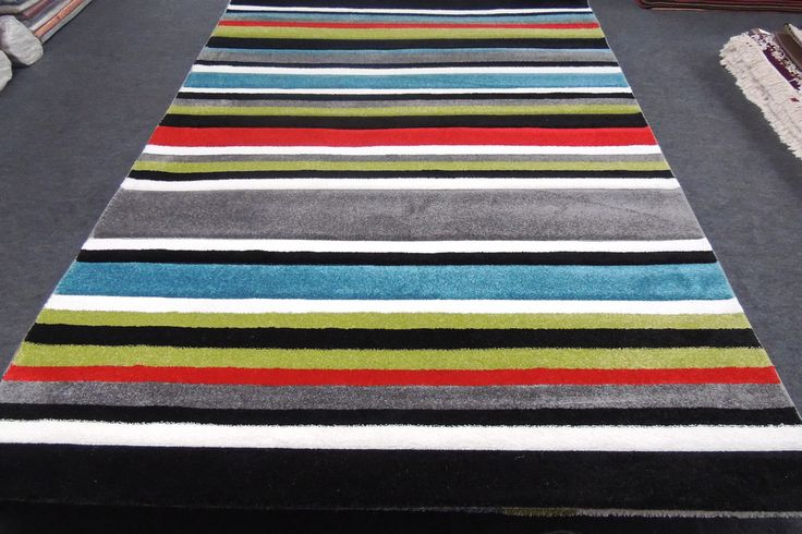 Turkish Modern Stripy Rug 230 x 160cm