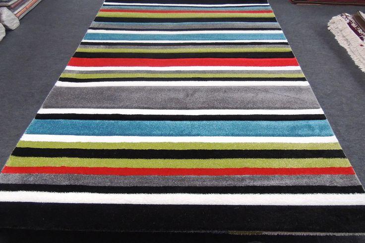 Turkish Modern Stripy Rug 230 x 160cm
