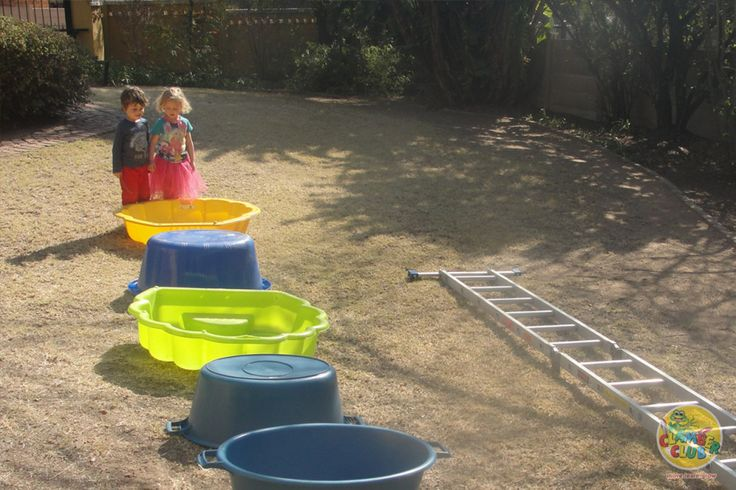 """Create an """"almost summer"""" obstacle course for your children in your garden. This is brilliant for promoting spatial awareness!"""