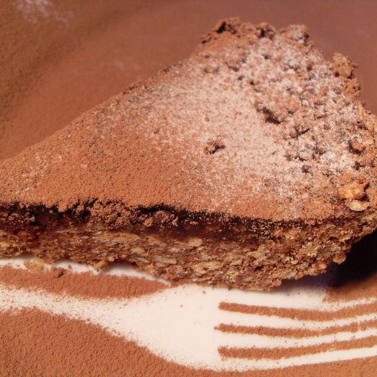 Шоколадно-ореховый торт без запекания