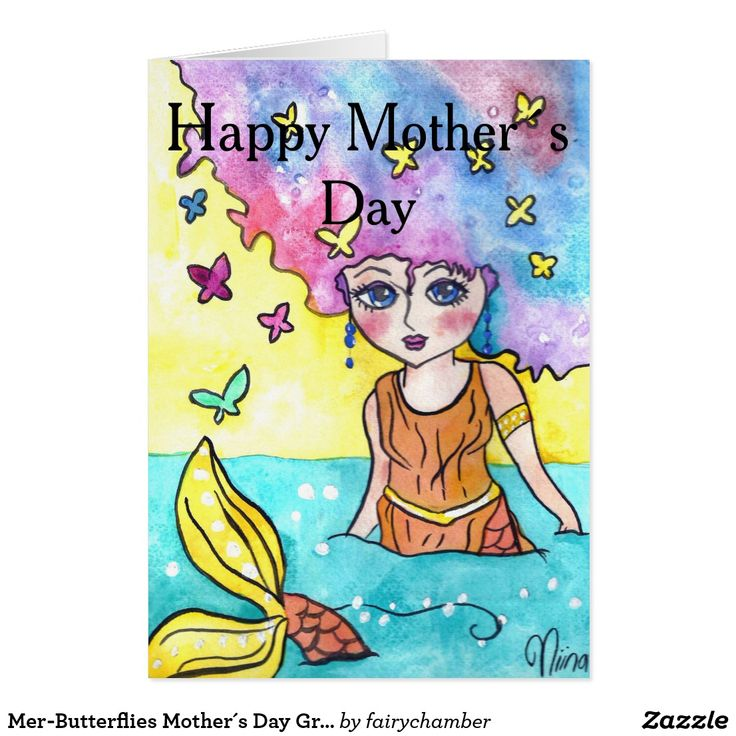 Mer-Butterflies Mother´s Day Greeting Card