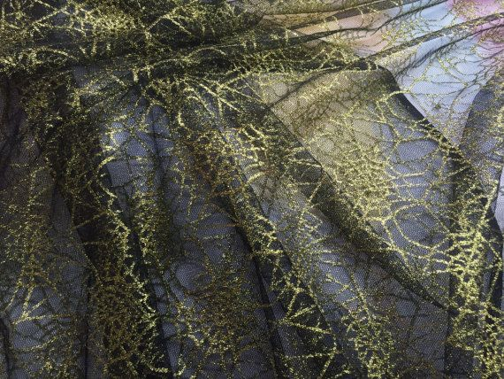 gold cobwebs on black net halloween decoration fabric spider cobwebs tulle net spiderwebs dress costumes making