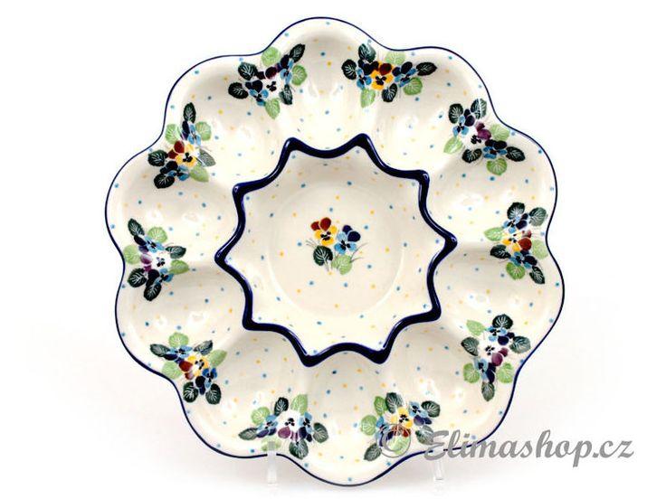 "Egg tray 28 cm (11"") - *** ELIMAshop.cz *** Handmade Polish Pottery from Boleslawiec . Bunzlauer keramik . ceramics . stoneware . ELIMAshop.cz , shipping worlwide . Artystyczna ."