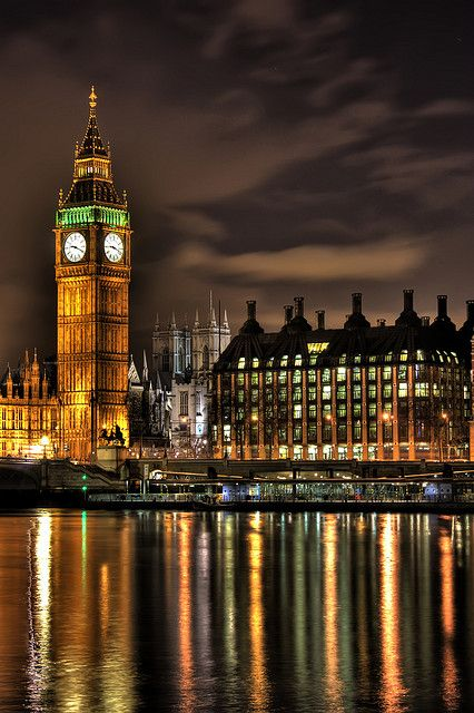 Big Ben at night, I can't wait to see this!
