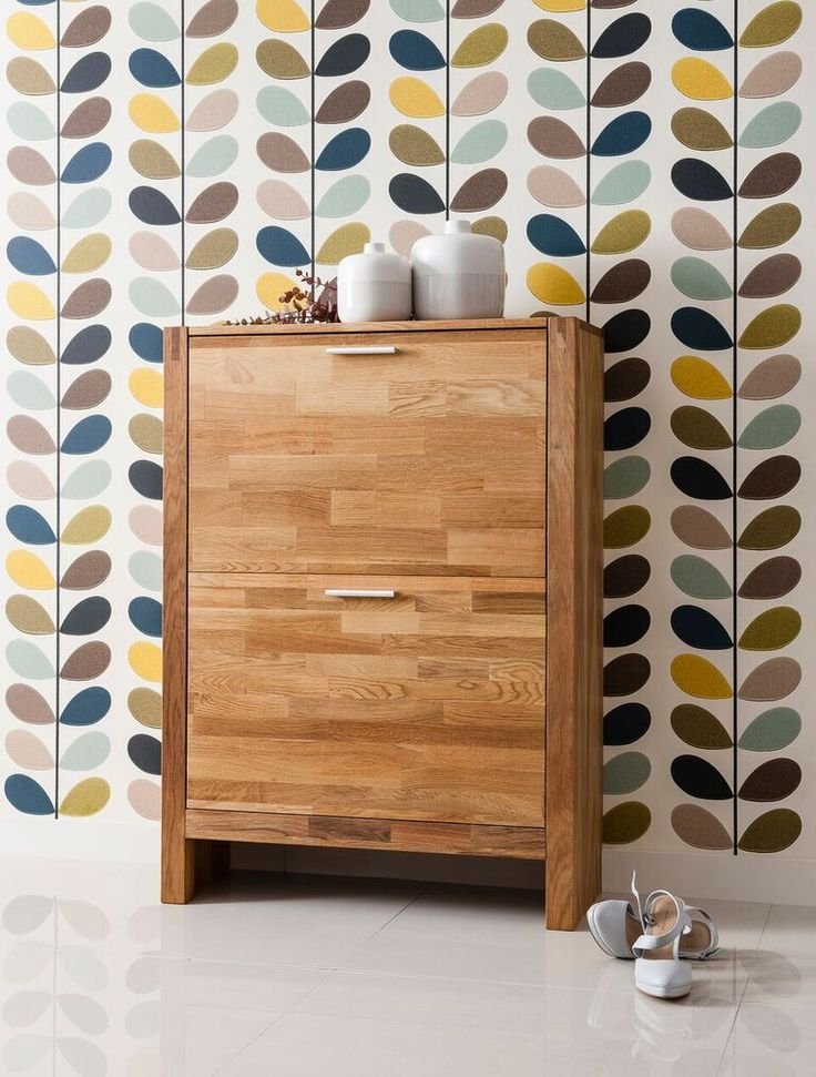 Noa And Nani Vermont Solid Oak Shoe Storage Cabinet 2 Drawer | £109.99 | #