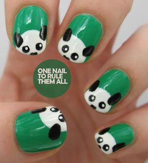 One Nail To Rule Them All panda #nail #nails #nailart