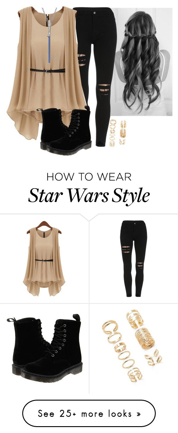 """Star Wars!"" by dauntlessbadgirl on Polyvore featuring Dr. Martens and Forever 21. I don't like the shoes though"