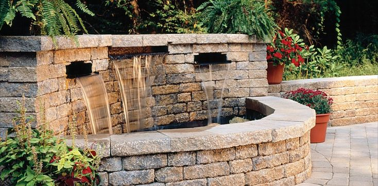 Water Features Ponds Sitting Walls By Belgard All