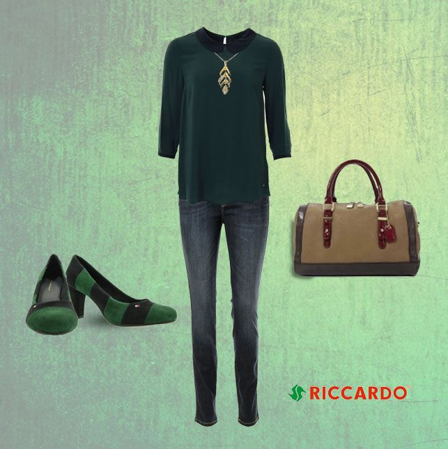 Amazing emerald blouse with bebe collar by Tommy Hilfiger. Hot colors this season: claret, emerald, navy blue with a hint of gold! #bebe #collar #emerald #claret #navyblue