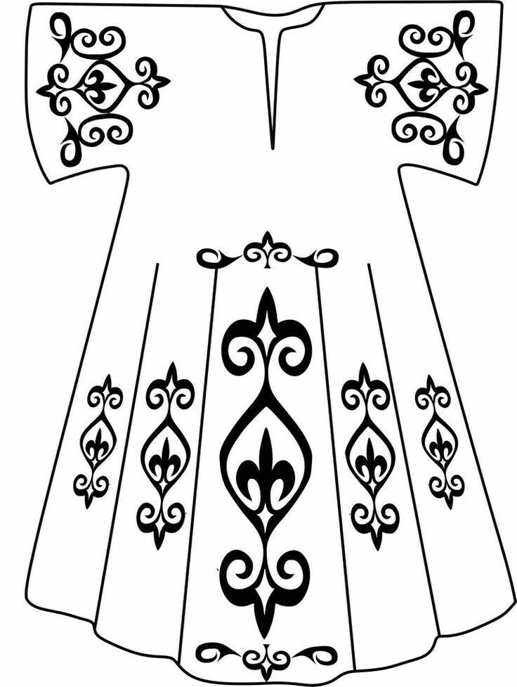 рисунки крутых костюмов с узорами