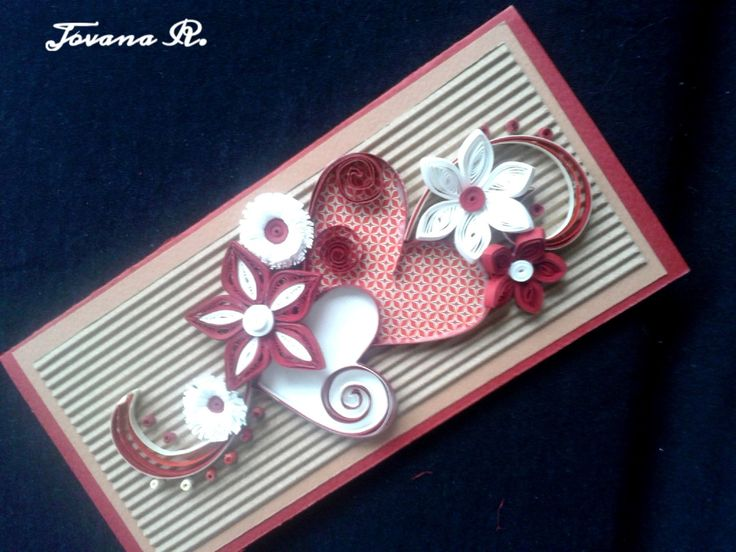 Unique handmade quilling card, Birthday card,Valentines quilling card, Wedding greeting card, Anniversary greeting card, Love you by PaperMagicByJR on Etsy