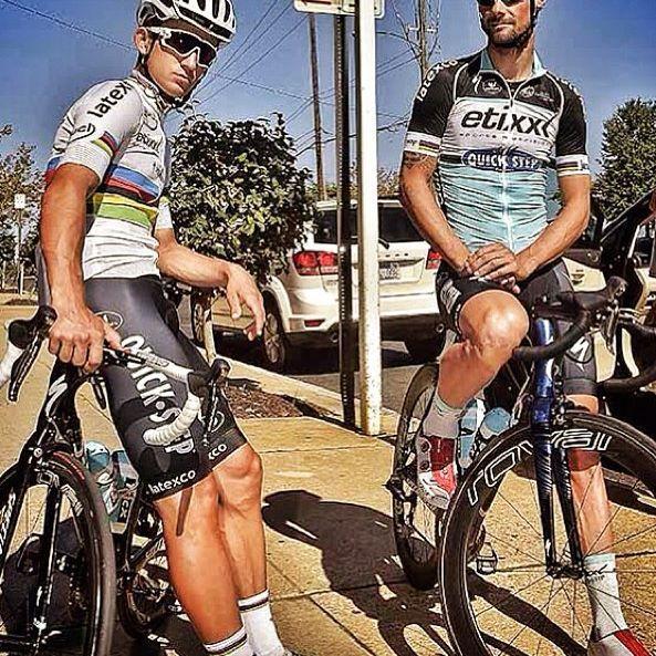 Richmond2015 training TT Tom Boonen Michal Kwiatkowski @bettiniphoto