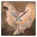 Silkie Chicken Wall Clock  #Chicken #Clock #RusticClock #Silkie #Wall The Rustic Clock