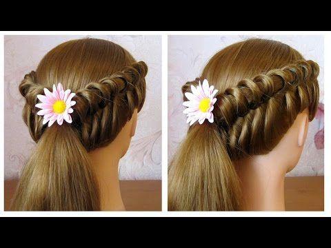 Coiffure facile à faire soi même pour cheveux mi long/long  Coiffure tresse originale - YouTube