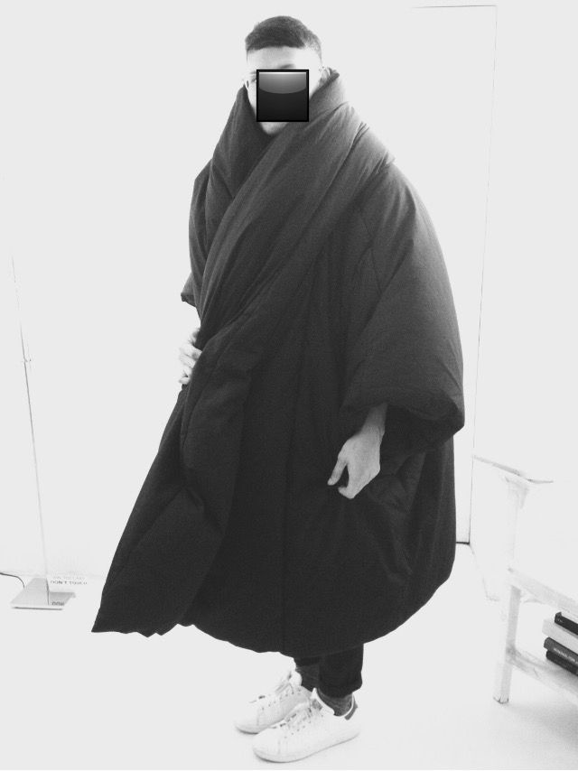 Me in Yohji Yamamoto duvet coat. The lightest coat ever!