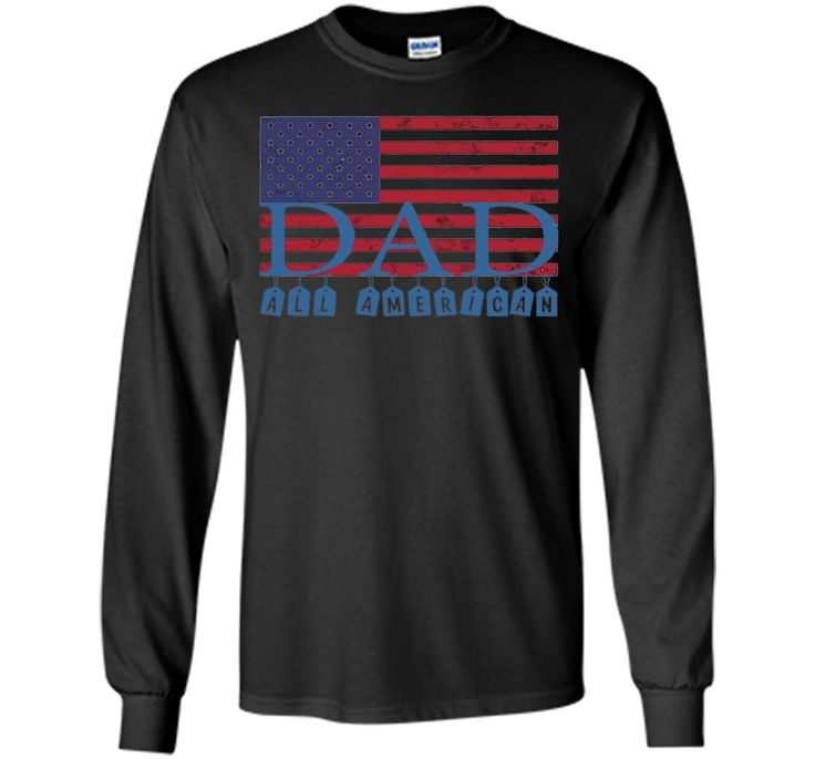 Mens Mens All American Dad American Flag Shirt, Father's Day Gift