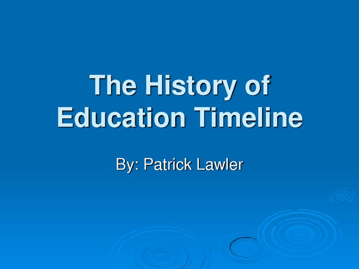 a history of education in the us African american history timeline: 1619 - 2008 1619 the first african american indentured servants arrive in the american colonies less than a decade later, the first slaves are brought into new amsterdam (later, new york.
