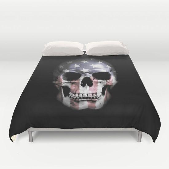 #skull #american #americanskull #usa #flag #duvet