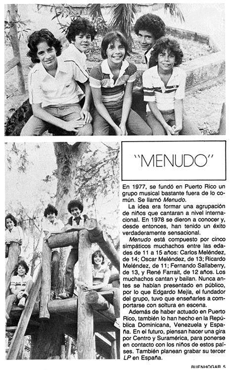 Menudo 1979 Menudo 1979 Pinterest Madison Square Garden