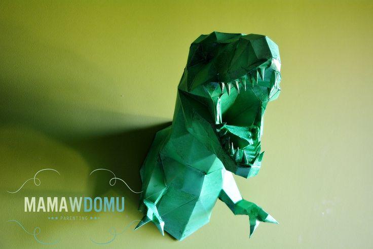 dinozaur origami #papercraft #dinosaur #origami #paper #Trex