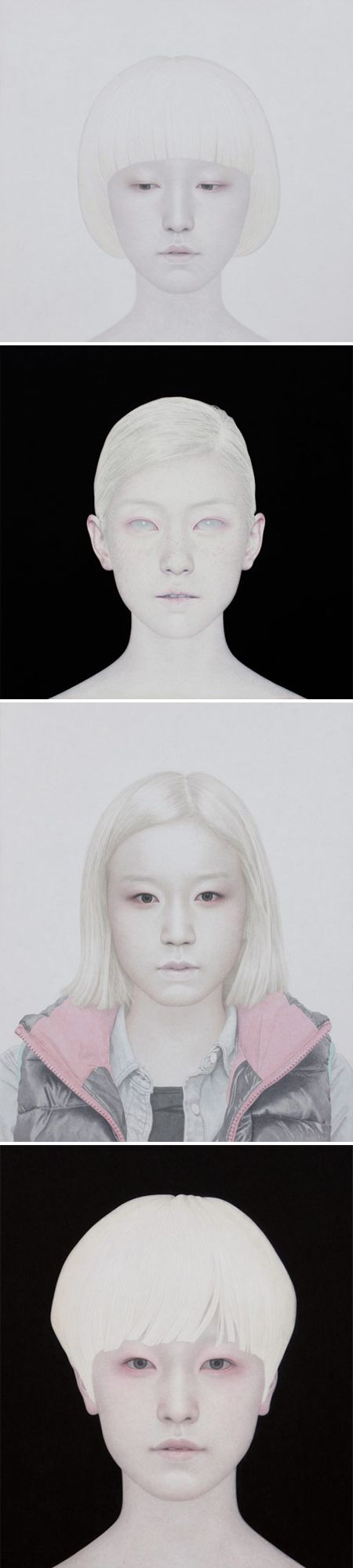 So beautiful, so haunting, and oh so skillfully painted. These stunning portraits are the work of South Korean artist Yong Sung Heo. via Jealous Curator