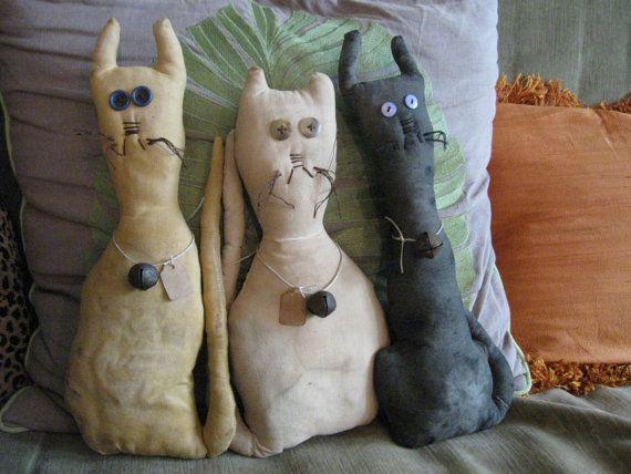 Primitive Barn Cats FAAP OFG HAFAIR by annieshandmadedecor on Etsy, $25.00