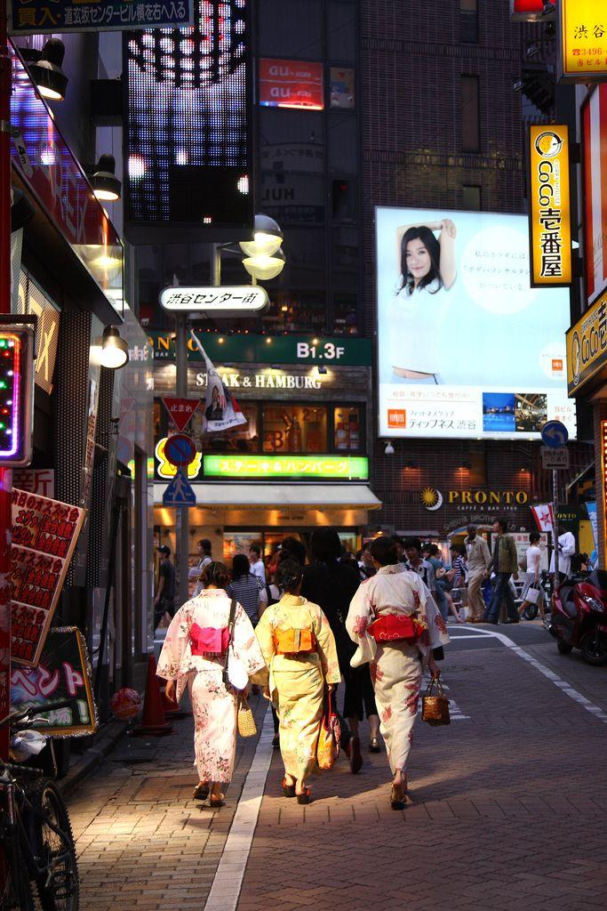 https://flic.kr/p/2jqPy3 | yukata in the big city | Shibuya, Tokyo