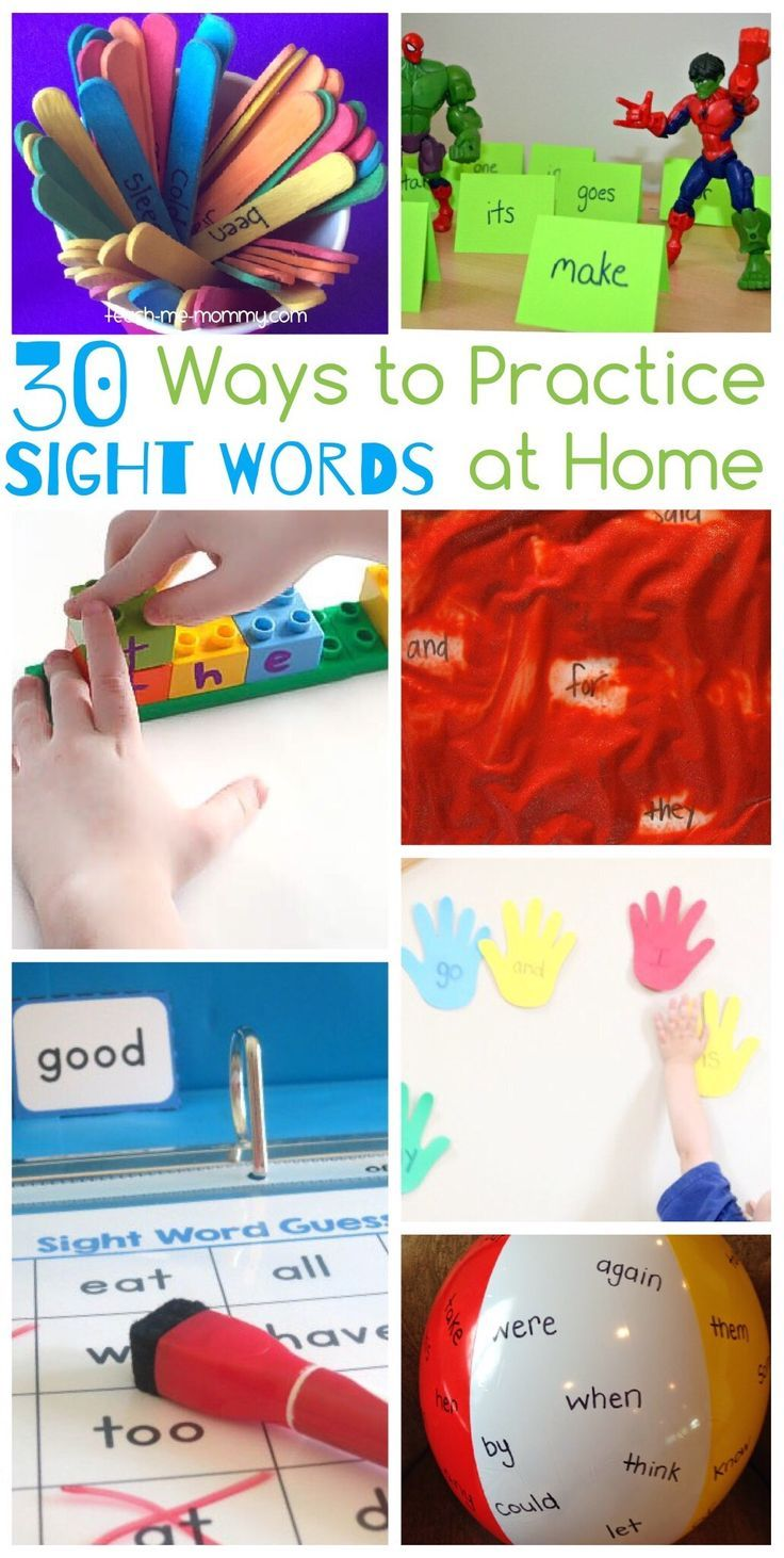 Ways to Practice Sight Words at Home Fun, Words and Home