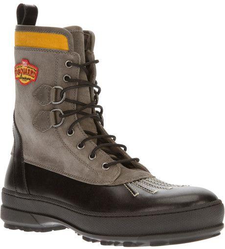 DSQUARED2 > Military Desert Boot, Gray