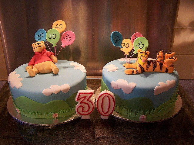 Pooh and Tigger cakes! by Sandra (socake), via Flickr