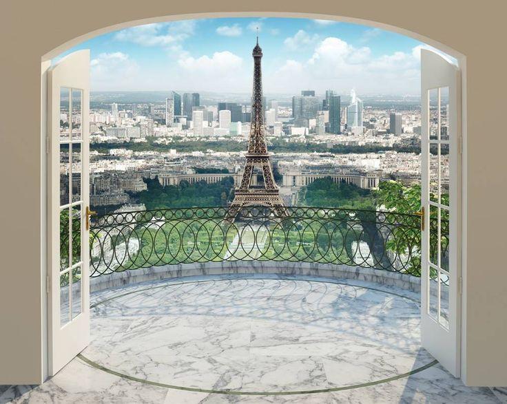 Parijs de Eiffeltoren Posterbehang, fotobehang. zeg je Parijs dan zie je de Eiffeltoren voor je. Nu kun je dit beeld in je huis halen om zo de kamer eenvoudig d