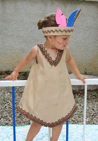 """Dans la série """"déguisement d'été : les indiens"""", je continue.   Par chez nous, tout bon chef indien est accompagné d'une jolie squaw. Voici ..."""