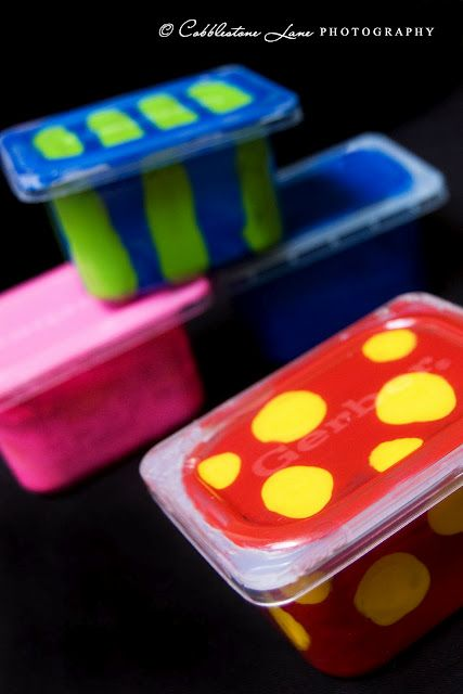 DIY stacking infant & toddler blocks/noise makers made from baby food containers