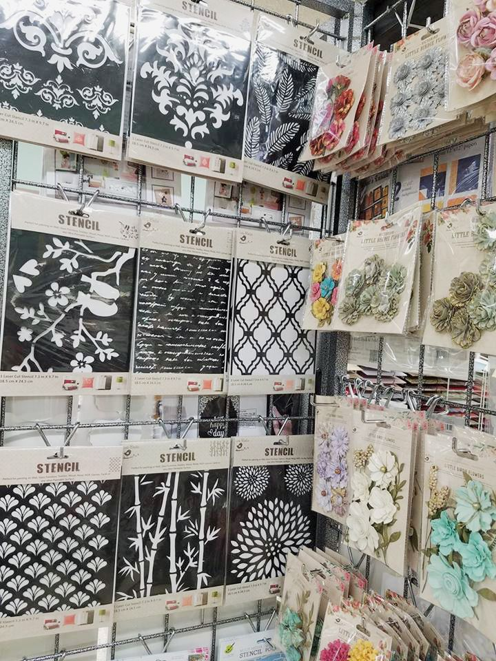 Little Birdie craft products have arrived! All their flowers are hand embossed, hand shaded, hand glittered. They have a variety of products to fulfil every crafters need, from dainty with subtle colours to vintage and rustic. Stencils-Chipboard die cuts-Victorian Flowers In store now but they won't last long :)