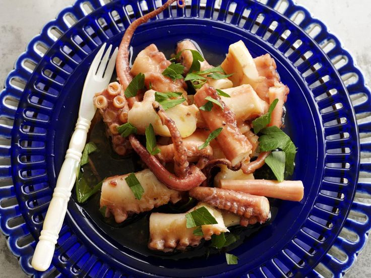 Pickled octopus, octopus recipe, brought to you by Australian Women's Weekly #Octopus #AsianFood