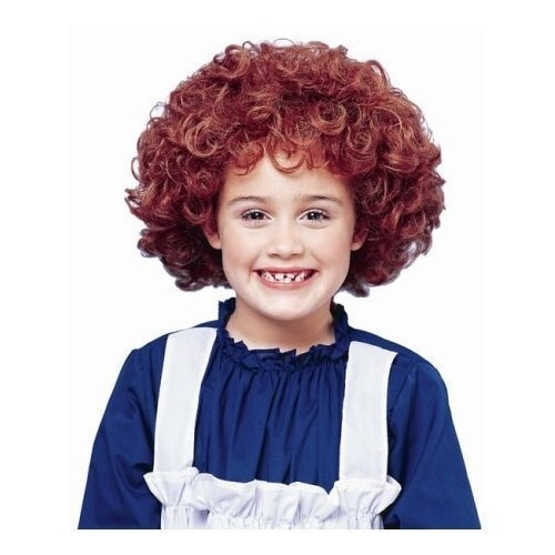 Little Orphan Annie Red Curly Child Costume Wig Orphan