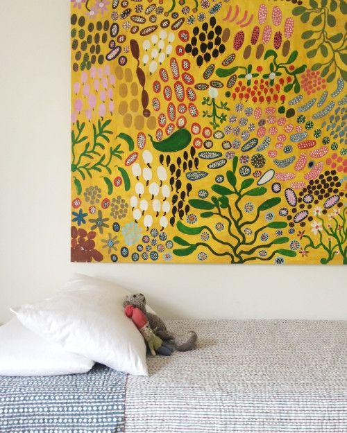 aboriginal painting in children´s room