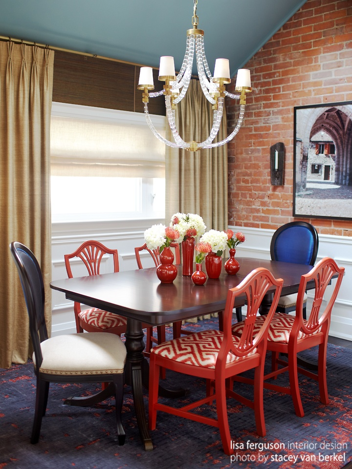 mixed dining chairs red dining rooms eclectic dining rooms dining room