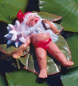 Funny Garden Gnomes | 45-produktbild-funny_gnomes-swimming_garden_gnome_on_leaf_696328_0.jpg