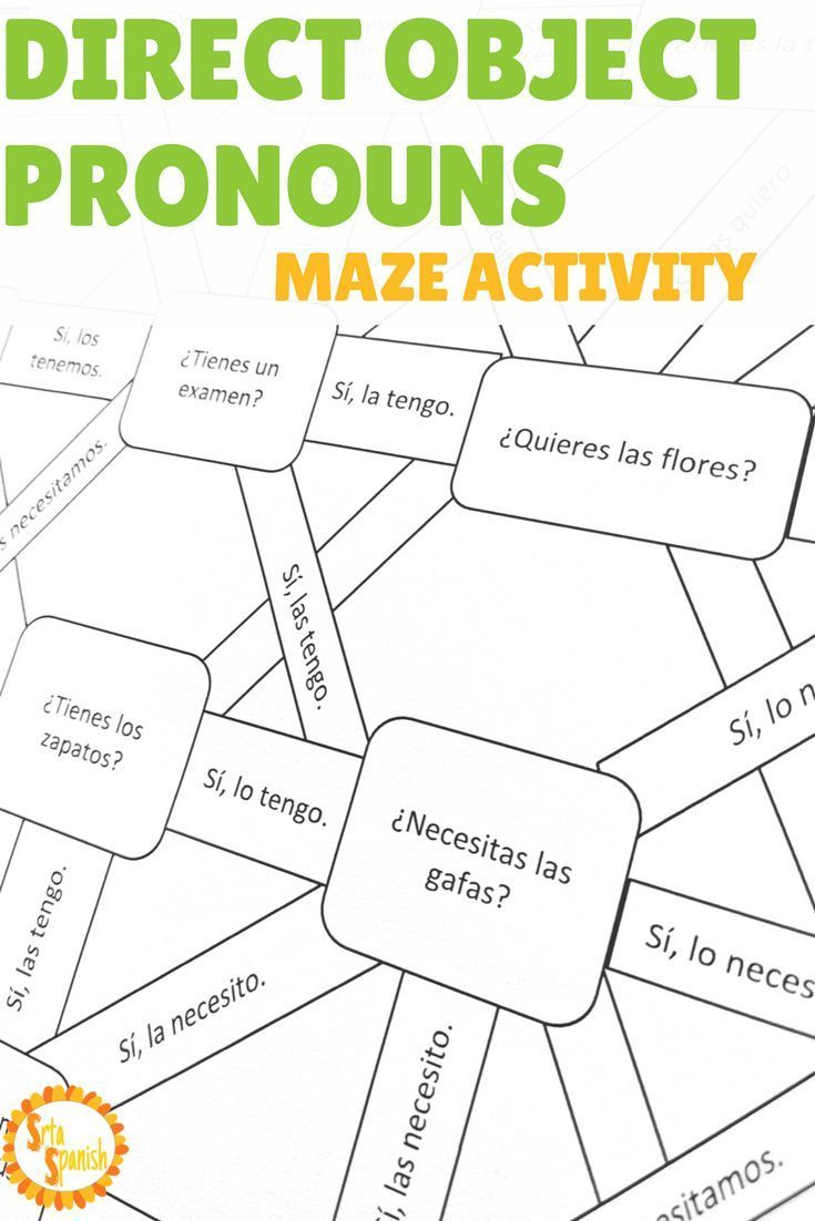 Are You Looking For A Fun Activity To Practice Direct Object Pronouns In Spanish This Twist On A W Learning Spanish Spanish Grammar Activities Object Pronouns [ 1102 x 735 Pixel ]