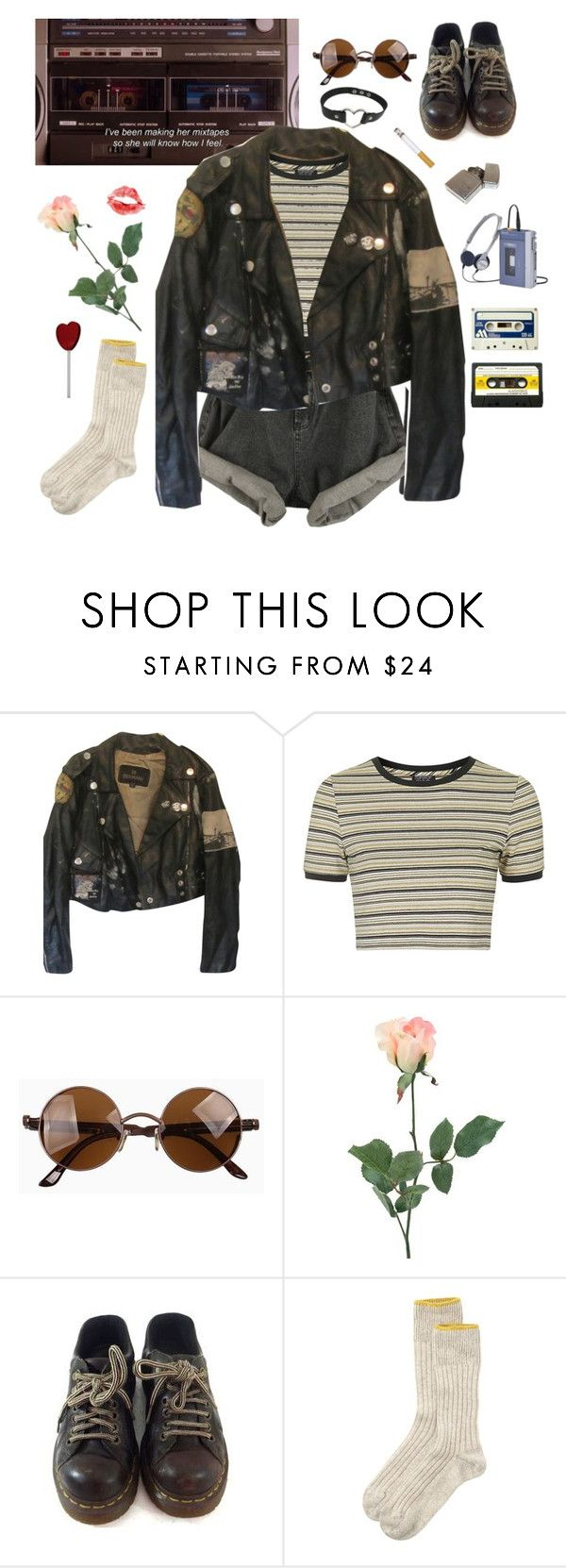 """""""here babe, take my jacket"""" by fairlyizzy ❤ liked on Polyvore featuring Topshop, Prada, INC International Concepts, Dr. Martens, Toast, women's clothing, women, female, woman and misses"""