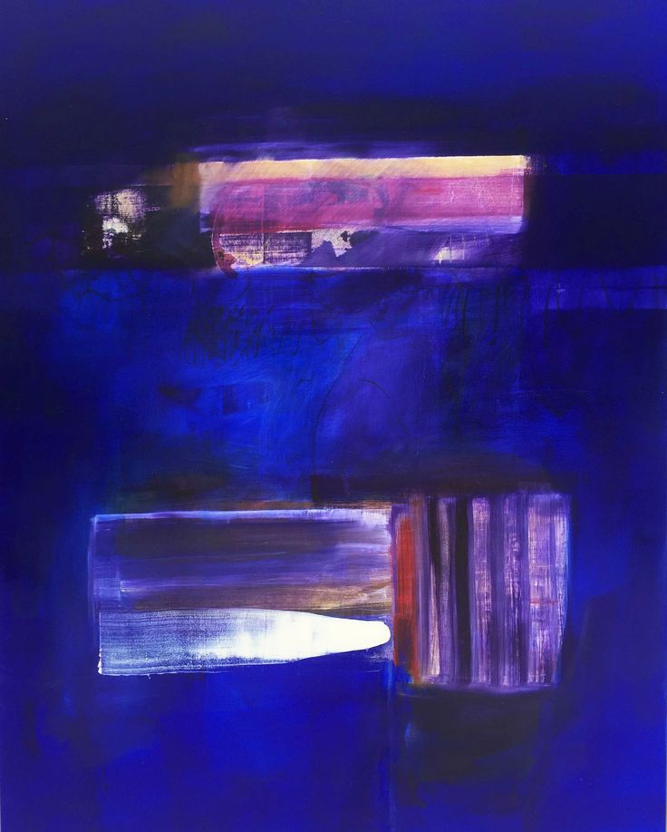 """""""Blue on Blue 3"""" 153cm x 122cm For more information please contact REDSEA Gallery on (07) 3162 2230 © John Waller"""