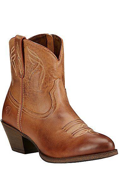 Ariat Darlin Women's Burnt Sugar Almond Toe Western Booties   Cavender's