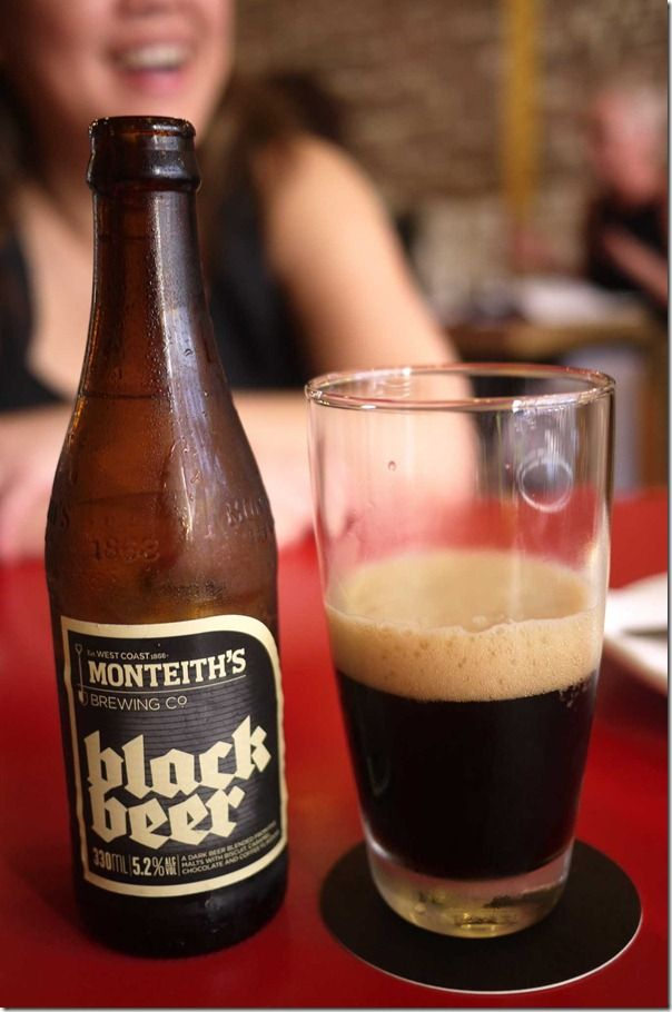 Beer 81 - Montieth's black beer  New Zealand
