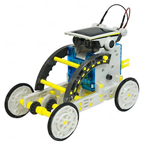This solar powered robot can be transformed into 14 different robot modes Powered by the sun - no batteries required Two levels of building skill levels so the beginner and experienced robot builder will be equally engaged...   toys4mykids.com